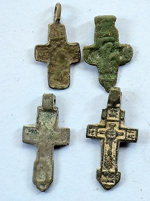 Medieval Christianity Cross Pendant lot. 17-18 cent