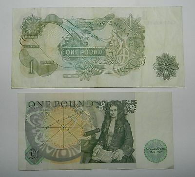 Great Britain : 2 Old Bank Of England One Pound Notes