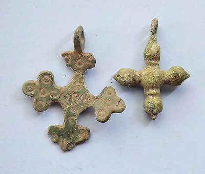 Medieval Viking period Christianity Cross pendant lot
