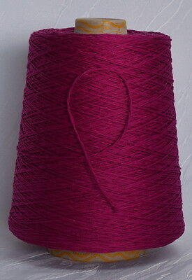 mauve weicher Zwirn 100% Mako - Baumwolle Stricken Filethäkeln NM 3,8  490g