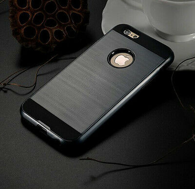 Anti-shock Hard Back Grey Hybrid Armor Case Cover For Iphone 6 Plus {{nq63