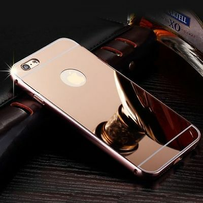 Luxury Aluminum Ultra-Thin Rosegold Mirror Metal Case For iPhone 5 5s {{nq65
