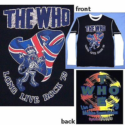 """The Who """"long Live Rock Twofer"""" Long Sleeve Shirt Xl X-Large New Thermal"""