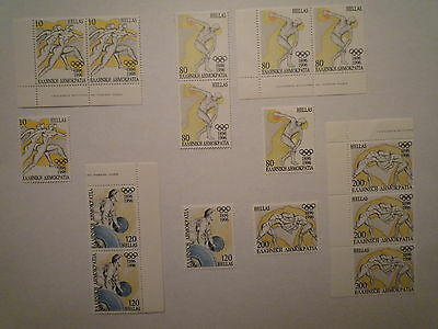 E2N-Lot Timbres Grece Serie Commmemorative Jeux Olympiques 1996 Neufs