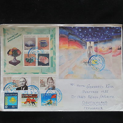 U/l367 - Kazakhstan: Fine Cover- Olympic Games - Minerals -Registered To Germany