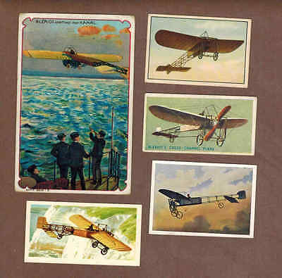 Aviation, LOUIS BLERIOT: Collection of Scarce Antique Cards from GERMANY (1909)