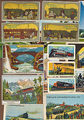 TRAINS, RAILWAYS: Collection of Scarce Antique Cards (1899)