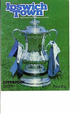 Ipswich Town v Liverpool 1978/79 FA Cup 6th round