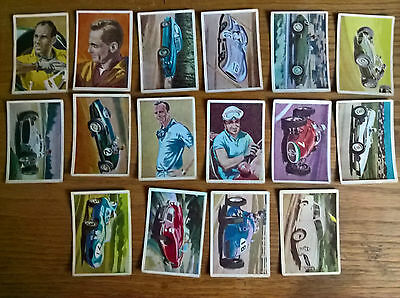Planet gum trade cards: Racing Cars of the World odds/part set 16/50 no's listed