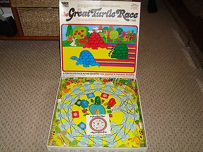 Vintage Very Rare THE GREAT TURTLE RACE Board Game 1976 - Parker Complete Boxed