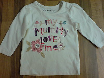 Nutmeg Baby Girls Cream My Mummy Loves Me Top 0-3 Months