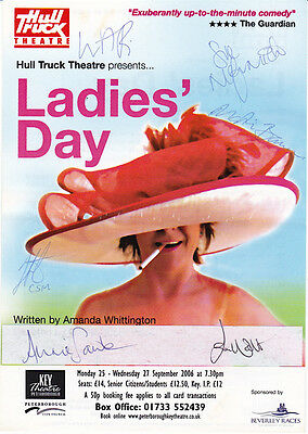 HAND SIGNED - Theatre Flyer - Numerous Signatures - LADIES DAY - 2006 Production