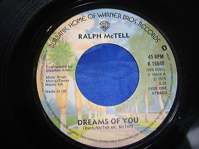 Ralph McTell - Dreams Of You (12810) Warner Bros. Records (1975) K 16648 - 7""
