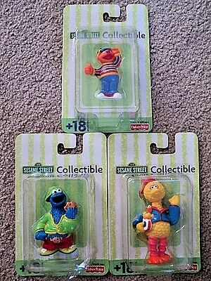 NEW IN BOX lot of 3 sesame street collectibles BIG BIRD, COOKIE MONSTER & ERNIE