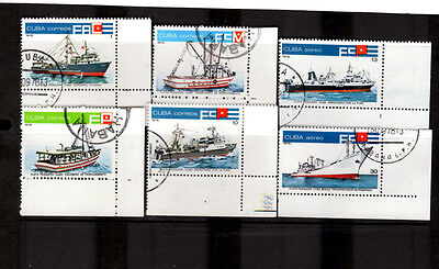 C*BA: 1978 Fishing Boats SG2487 - 2492 Set of 6 CTO Stamps