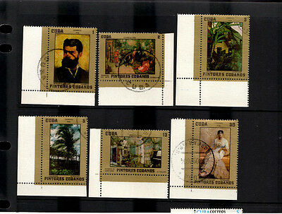 C*BA: 1976 C*ban Paintings SG2312 - 2317 Set of 6 CTO Stamps