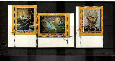 C*BA: 1972 Cervantes Birth Anniversary Paintings SG1966-1968 Set of 3 CTO Stamps
