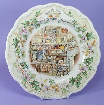 Royal Doulton Brambly Hedge Plate Store Stump 1984