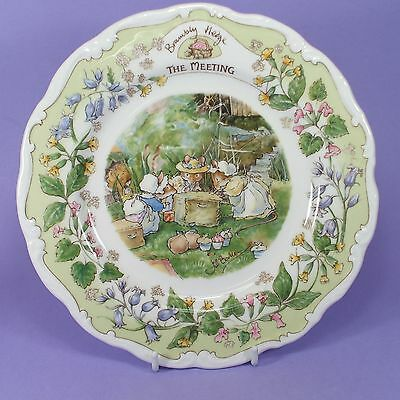 Royal Doulton Brambly Hedge Plate The Meeting  1993