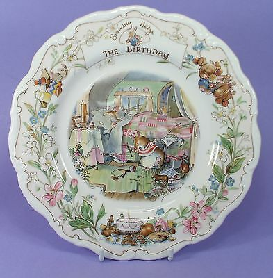 "Rpyal Doulton Brambly Hedge Plate ""the Birthday"" 1987"