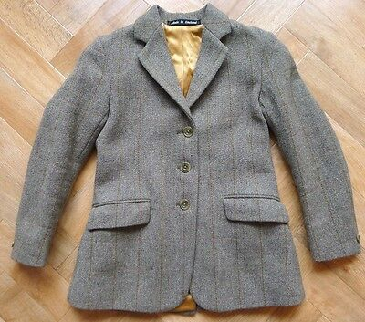 Vintage Foxley Derby Tweed wool blend riding equestrian jacket age 9 10 sz 28