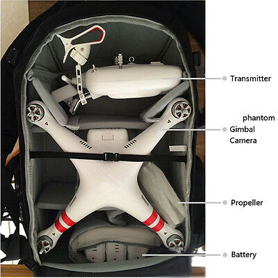Durable Backpack Carry Case for DJI Phantom 3 Professional/Advanced RC Drone