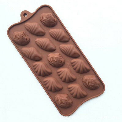 Silicone Chocolate Shell Fondant Cake Mold Candy Ice Tray Jelly Baked Mould Tool