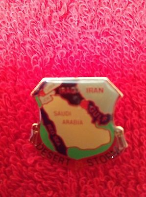 Desert Storm 1990-91 - Gulf War - Middle East - Iraq - Kuwait- Vintage Lapel Pin