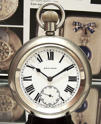 Rare Lner London North Western Railway 30's Antique Guards Pocket Watch Record