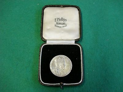Cased Royal Mint King Edward V11 1902 Silver Coronation Medal Unc FREEPOST
