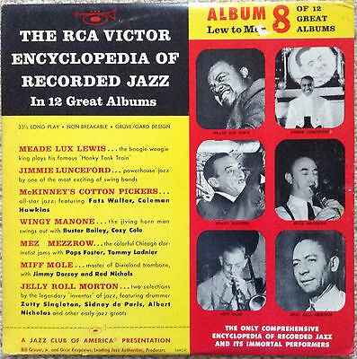 Rca Victor Encyclopedia Of Recorded Jazz No. 8 - Various Artists (10-Inch Lp)