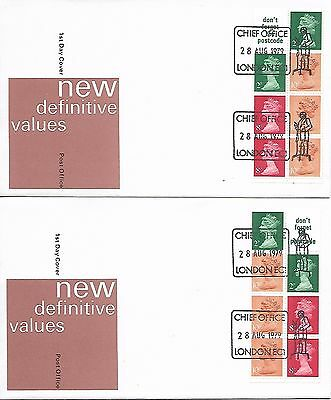 GB 1979 50p booklet pane Machin FDCs London cancel