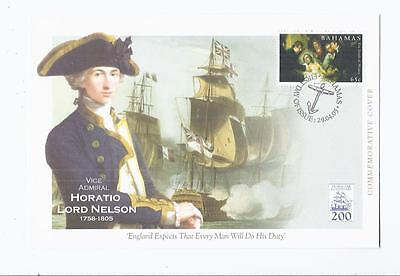 f105 Thematics People / Nelson / 2 x fdcs 1 x Bahamas 1 x Cayman Islands Unused