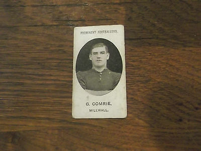 1907 Original Taddy Prominent Footballers Millwall Player G Comrie