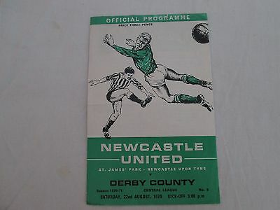 1969-70 CENTRAL LEAGUE RESERVES NEWCASTLE UNITED v DERBY COUNTY