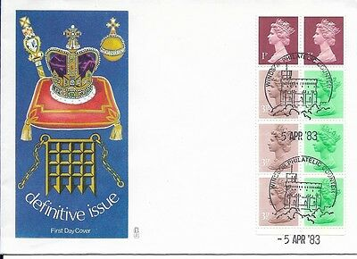 GB 1983 50p booklet pane Machin FDC Windsor cancel