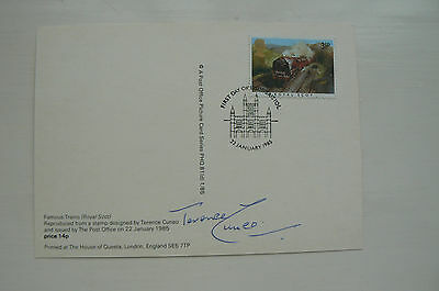 1985 Phq Card Famous Trains Royal Scot Signed Terence Cuneo