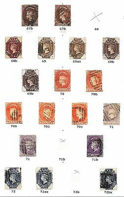 Ceylon stamps 1867 Specialised Collection between SG 67c-72bx  CAT VALUE $700