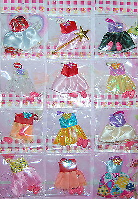 New 10 Clothes & 10 Pairs Shoes For Kelly Doll / Barby - Christmas Gift