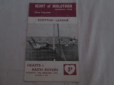 1959-69 SCOTTISH LEAGUE HEART OF MIDLOTHIAN v RAITH ROVERS