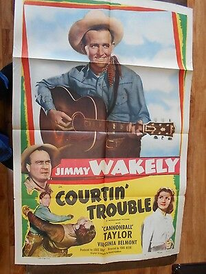 Jimmy Wakely           Courtin Trouble         1 Sht   27X4