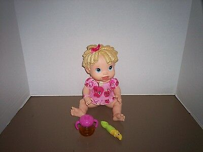 2009 Baby Alive All Gone TALKS Banana Spoon Sippy Cup