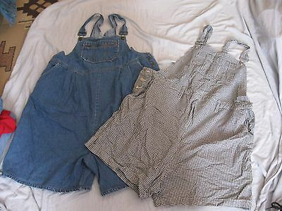 lot of 2 pairs of maternity overalls shorts Announcements & Zero to Nine XL