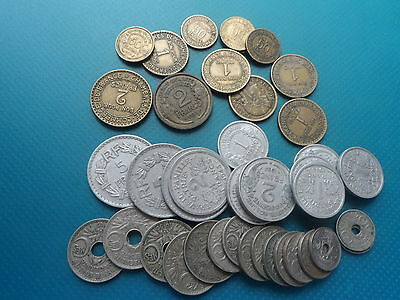 46  Old French Coins  1918 - 1959.