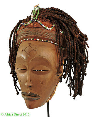 Chockwe Mask Mwana Pwo with Headdress Congo African Art  SALE WAS $350