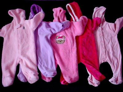 Used Baby Girl 3-6 Months Fall Winter Warm Snowsuit Snow Suit Clothes Lot
