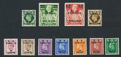 Ba British Somalia 1950 Set,  Vf Lh Og Sg#s21-31 (See Below)