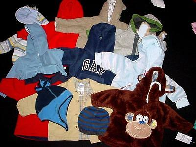 Used Baby Boy Over Coat Tops 3-6 6 Months Fall Winter Clothes Lot