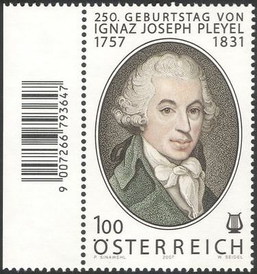 Austria 2007 Pleyel/Composers/Music/Musicians/Entertainment/People 1v (at1094)