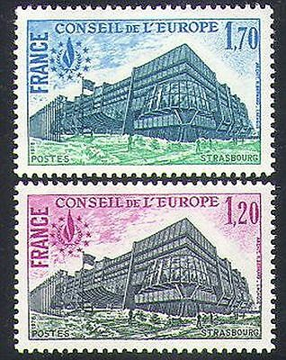 France (Council of Europe) 1978 Buildings/Architecture/Rights 2v set (n37640)